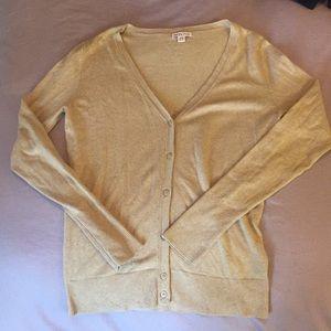 Merona Cardigan Sweater In Burnt Yellow